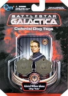 Battlestar Galactica Colonial Dog Tags Admiral William Adama Callsign Husker