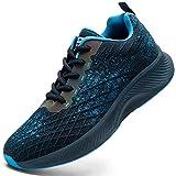 HIIGYL - Zapatillas deportivas deportivas para hombre, para caminar, correr, gimnasio, tenis y fitness, ligera, de moda, color Blanco, talla 42.5 EU