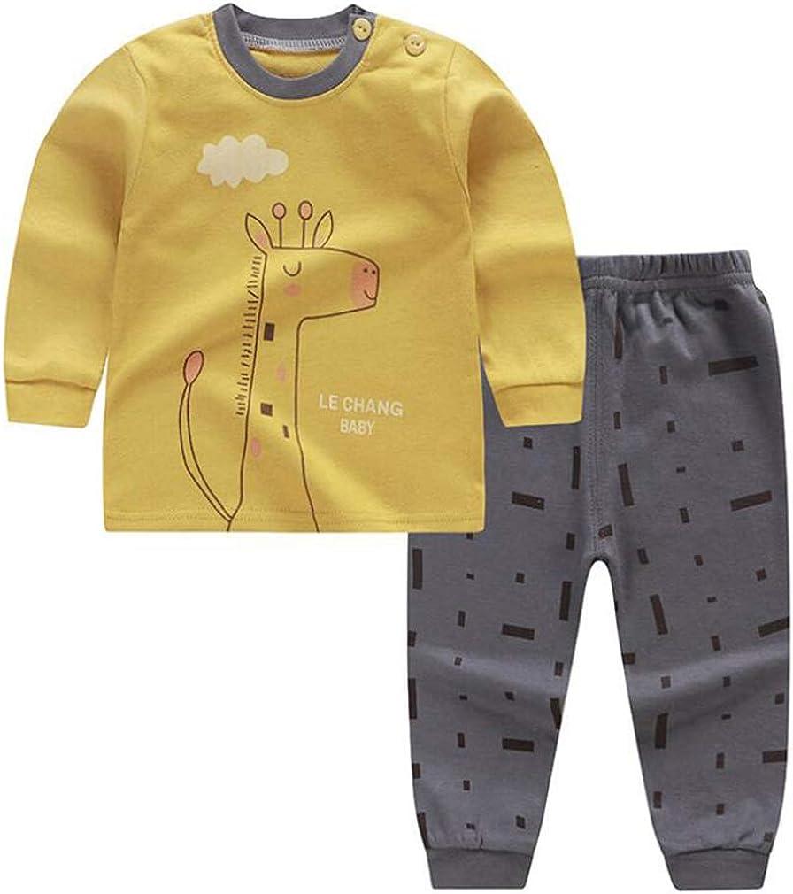 Pantalones Largos Ropa de Casa Ropa de Dormir Conjunto de Pijamas Ni/ño Ni/ña Dibujos Animados Impresi/ón Ropa Interior de Casual Ni/ños Underwear Conjunto Dos Piezas Manga Larga Tops