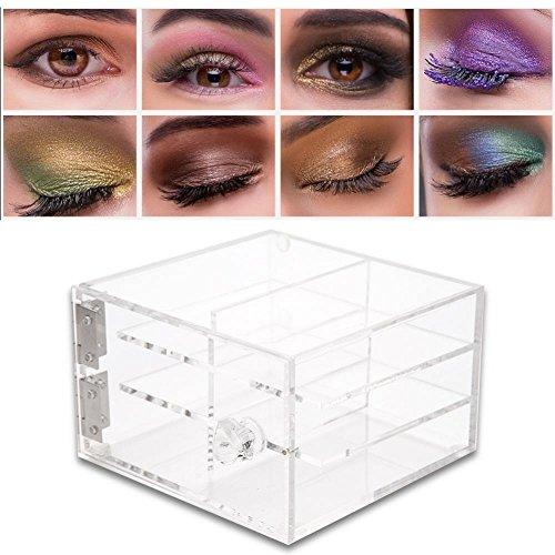 Boîte de Rangement pour les Cils, 6 Couches d'Acrylique Transparent pour Greffer une Trousse de Maquillage, une Boîte de Rangement pour Faux Cils, une Chambre Soignée, une Superbe Décoration