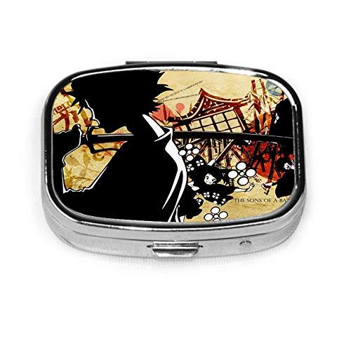 Sailor Moon Silber quadratische Pillenbox Medizin Tablettenhalter Brieftasche Organizer Fall für Tasche oder Geldbörse
