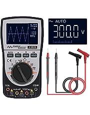 VISLONE Osciloscopio digital inteligente 2 en 1 Multímetro DC/AC Resistencia de voltaje de corriente Probador de diodos de frecuencia
