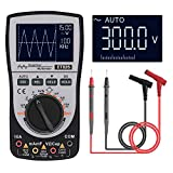 KKmoon Oscilloscope Multimeter 2.0 Update, 2-in-1 Intelligent Digital Scope Meter Multimeter DC/AC Current Voltage Resistance Frequency Diode Tester 4000 Counts 200KHz Analog Bandwidth with Bar Graph