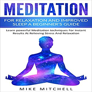 Meditation for Relaxation and Improved Sleep: A Beginner's Guide audiobook cover art