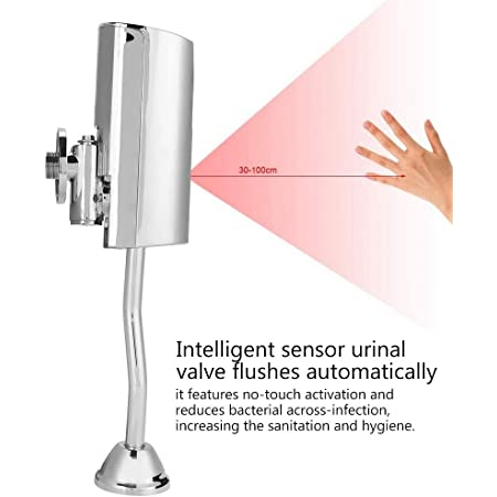 Urinal Flush Valve Brass Bathroom Toilet Wall Mounted Intelligent Automatic Sensor Touchless Urinal Flush Valve for All Kinds Modification Projects