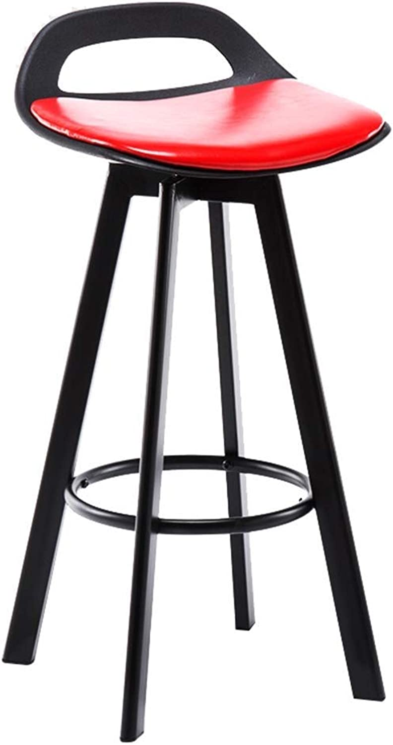 Modern Simple Bar Stool Iron Can Be redated Home Kitchen Breakfast Stool Chair Sitting Height 60 72   83CM High Stool LEBAO (Size   72cm)