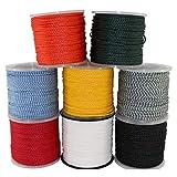 SGT KNOTS Lightweight Hollow Braid Polypropylene Rope - Moisture & Chemical Resistant (1/4...