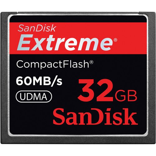 SanDisk 32GB Extreme Compact Flash (CF) Speicherkarte - 60MB/s UDMA