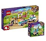 Collectix Lego 41442 Friends - Cinturón de entrenamiento y remolque para caballos (41441) + Quad de rescate de animales