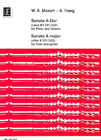 Sonate 11 a-Dur KV 331 (300i) (Alla Turca). Flöte, Gitarre
