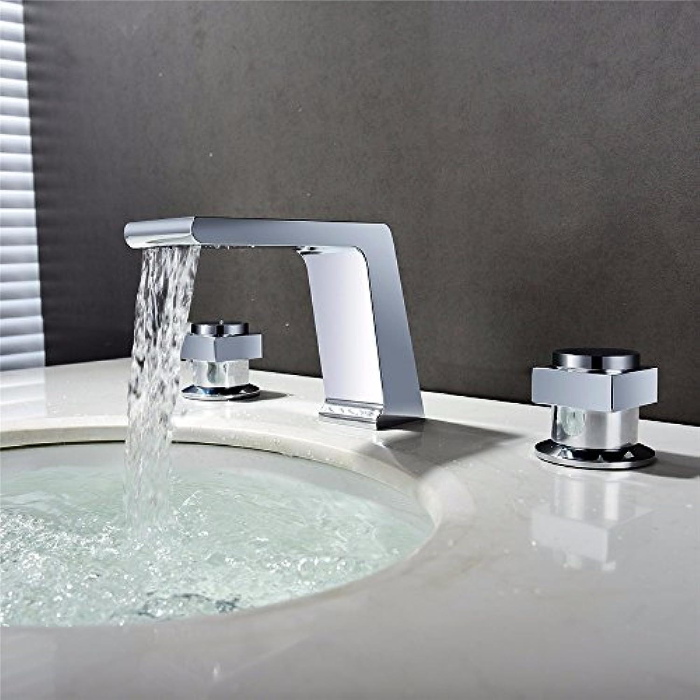 MMYNL TAPS MMYNL Waschtischarmatur Bad Mischbatterie Badarmatur Waschbecken Antike Modern Chrom Wasserfall kaltes Wasser Keramik Ventil Double Take Badezimmer Waschtischmischer