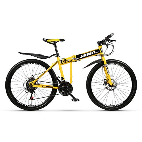 26-Inch 21-Speed 27-Speed Dual-Shock All-In-One Off-Road Vouwen Mountainbike, Spaakwiel Top Configuratie Fiets, Voor En Achter Dubbele Schijfremmen, 8S Snelvouwende