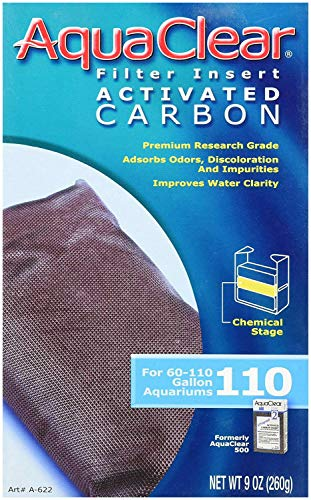 Hagen 6-Pack AquaClear  9-Ounce Activated Carbon Water Filter Insert for Aquarium