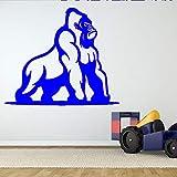 zqyjhkou Wilde Gorilla Ape Wandaufkleber Für Kinderzimmer Wohnkultur Removable Wallpaper Decals Spielzimmer Kunst Aufkleber 3 67X57 cm