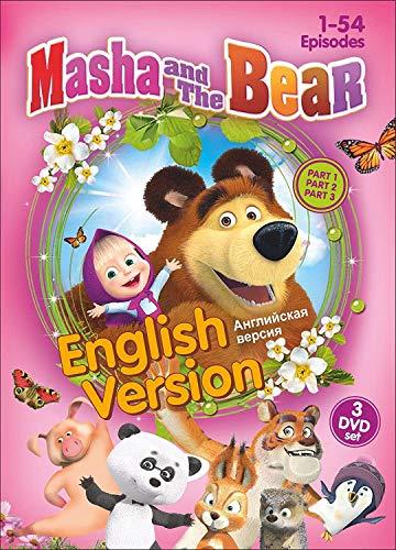 3 DVD NTSC SET MASHA AND THE BEAR (PARTS 1, 2 and 3) 1-54 EPISODES ENGLISH VERSION [2017]