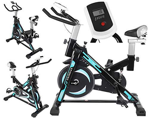 MT MALATEC Bicicleta estática de spinning con ordenador de entrenamiento para casa, entrenamiento cardio hasta 120 kg, 9644