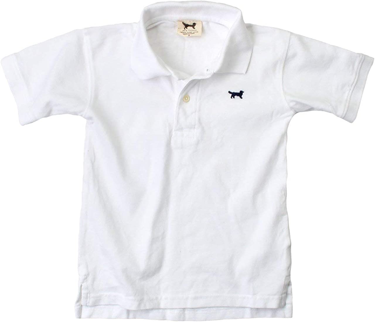 Wes & Willy Classic Short Sleeve Pique Polo/White