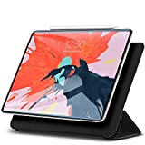 ESR Yippee Magnetic Smart Case for iPad Pro 12.9' 3rd Gen (2018 Release), [Support Pencil Charging] Trifold Stand Case, Magnetic Attachment, Auto Sleep/Wake, Rubberized Cover, Black
