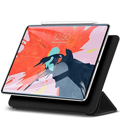 ESR iPad Pro 12.9 2018 ケース 2018モデル Apple Pencilペアリングとワイヤレス充電機能対応 マグネットス吸着式 オートスリープ機能 スリム 軽量 シルク手触り 高級感 iPad Pro 12.9インチ 2018年版専用 スマートカバー(ブラック)