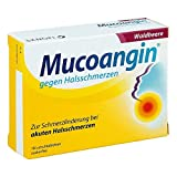 Mucoangin Waldbeere Lutschtabletten gegen Halsschmerzen, 18 St. Tabletten
