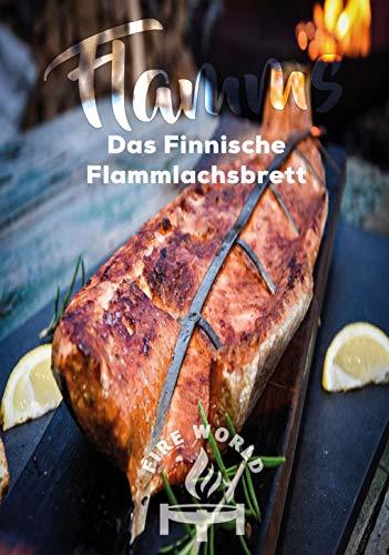 Flammlachsbretter - Original Flammlachsbrett - Halterung aus Edelstahl - Flammlachsbrett aus Buche - Feuerschale (2er Set)