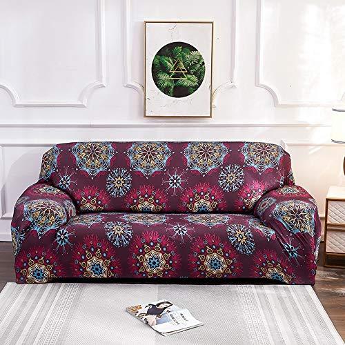 WXQY Fundas de sofá elásticas elásticas para la Sala de Estar Toalla de sofá Estilo Bohemia Totalmente Envuelto Antipolvo Toalla de sofá Armchair Funda de sofá A16 2 plazas