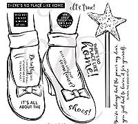 靴クリアシリコンスタンプ/DIYスクラップブッキング用シール/アルバム装飾クリアスタンプシートA506