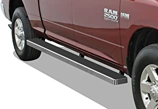 APS Wheel to Wheel Running Boards 5 inches Custom Fit 2009-2018 Ram 1500 Crew Cab Pickup 5.5ft Short Bed & 2010-2019 Ram 2500 3500 (Nerf Bars Side Steps Side Bars)