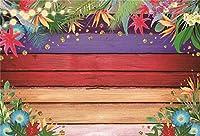 新しいアロハ写真の背景10x7ftハワイの夏のパーティーの装飾の背景カラフルなウッドトロピカルアクティビティワイルドベビーシャワーパーティーテーブルの装飾写真ブースデジタル壁紙