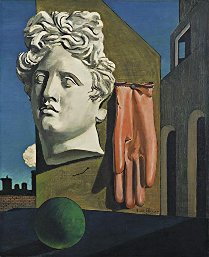 "Giorgio de Chirico The Song of Love Museum of Modern Art - New York 30"" x 24"" Wall Art Giclee Canvas Print (Unframed)"