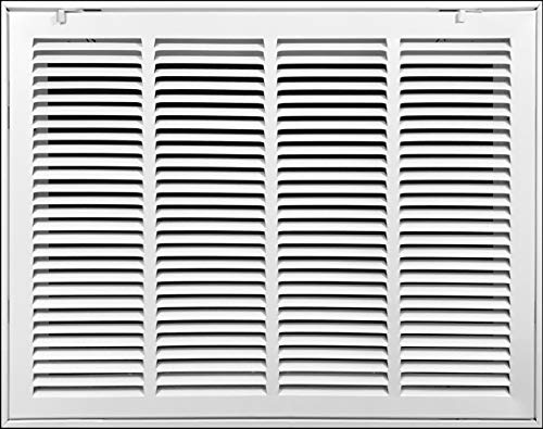 24' X 18' Steel Return Air Filter Grille [Removable Face/Door] for 1-inch Filters HVAC Duct Cover Grill, White | Outer Dimensions: 26 5/8'W X 20 5/8'H for 24x18 Duct Opening