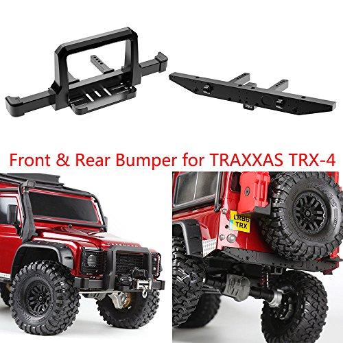 Benedict Harry CNC Alum Front & Rear Winch Bumper Set Black For TRX-4 1/10 RC Crawler (Front & Rear)