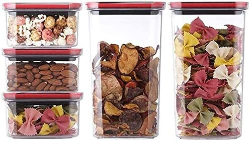 Sealed food storage Discount mail order container Cereal 5 Set Vacu Piece Cheap mail order shopping Containers