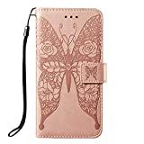 JZ Rose Butterfly Wallet Case For LG Stylo 4 / Q