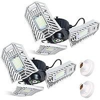 2-Pack Tanbaby LED Garage Lights 60W LED Shop Lights