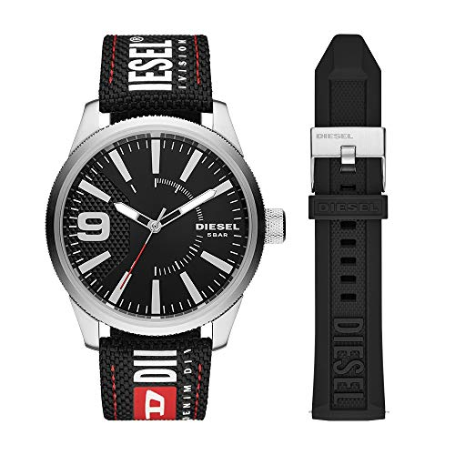 Diesel Rasp NSSB Reloj de cuarzo de acero inoxidable para hombre
