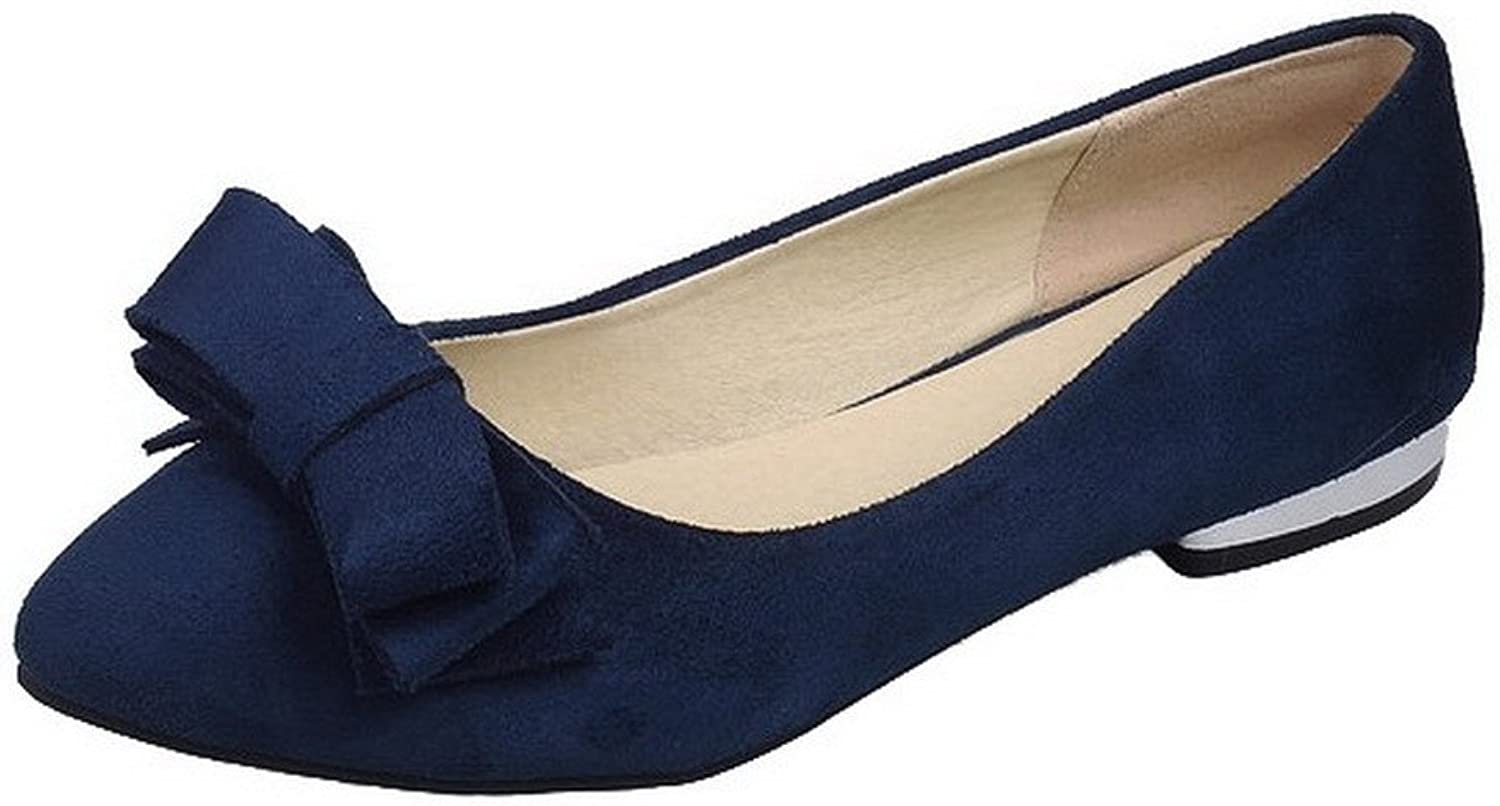 AllhqFashion Women's Solid Frosted Low-Heels Closed-Toe Pumps-shoes