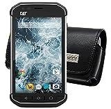 MTT Quertasche für / Caterpillar CAT S30 / Horizontal Tasche Ledertasche Handytasche Etui mit Clip & Sicherheitsschlaufe*