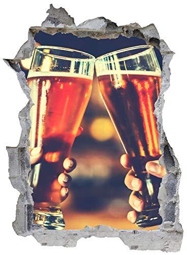 Bier Weizen Alkohol Kneipe Wandtattoo Wandsticker Wandaufkleber E0131 Größe 46 cm x 62 cm
