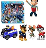 UNIQUE ICONS Toys Action Figure Pup & Badge, Ryder, Tracker, Robot Dog, Everest, Team Mission Toy Pretend Play Set for Kids