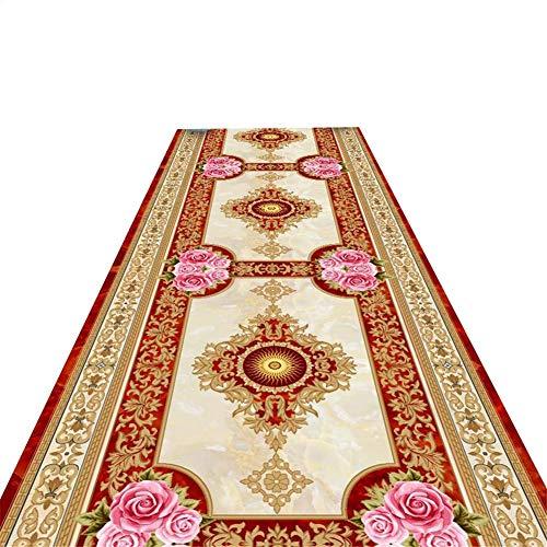 ACZZ Corredor de alfombras, palacio europeo del diseño del modelo estrecho largo mullidas alfombras...