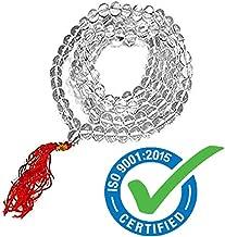 Astro Hub Certified Diamond Cut 108 Crystal Sphatik Mala Japa Beads