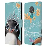 Head Case Designs Licenciado Oficialmente Animal Club International Penguin Royal Faces Carcasa de Cuero Tipo Libro Compatible con Nokia 6.2/7.2