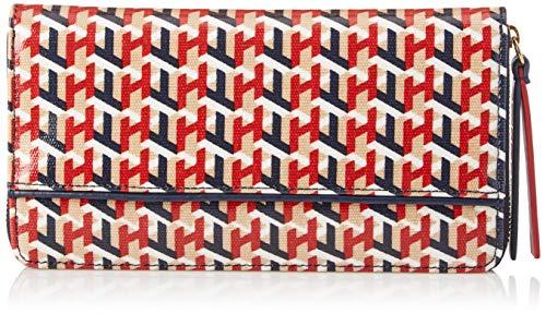 Tommy Hilfiger Women's Large Zip Wallet, Navy/Multi
