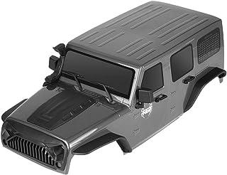 RC Shell Body 1/10 for RGT 86100 Traxxas Slash Axial SCX10 Redcat 313mm Wheelbase Wrangler Hobby Car RC Crawlers Spare Parts (Gray)