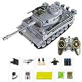 TRAACEM 1.18 Super RC Tank, 2.4G Battle Tank Rifle Barrel Remote Control Combat Tracked Tank Boy Toy...