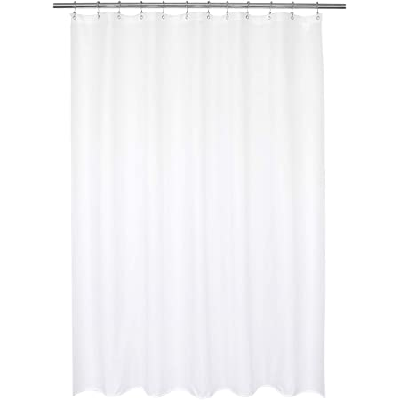 Amazon Com N Y Home Fabric Shower Curtain Or Liner With Small Diamond Pattern White 2 Bottom Magnets 70 X 72 Inches Hotel Style For Bathroom Furniture Decor