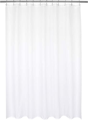 Barossa Design Waterproof Fabric Shower Curtain or Liner Hotel Quality, Machine Washable, White Shower Curtain Liner ...