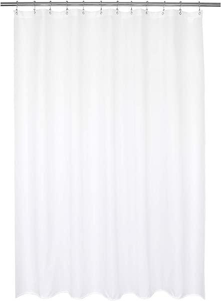 巴罗萨设计防水织物浴帘或衬里酒店优质可机洗白色浴帘衬里浴缸用 72x72 英寸