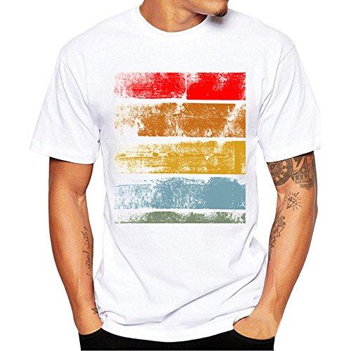 Yowablo Herren Poloshirt Polohemd Stehkragenshirt Kurzarmshirt Funktionsshirt Sportshirt Fitness Shirt Tee T-Shirt Sporthemd Trainingsshirt Sportswear T-Shirt (L,2Weiß)